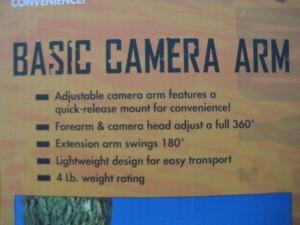 muddy camera arm